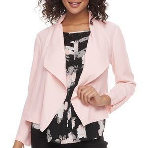 NWT Pink Juniors' Candie's Drape Front Moto Jacket